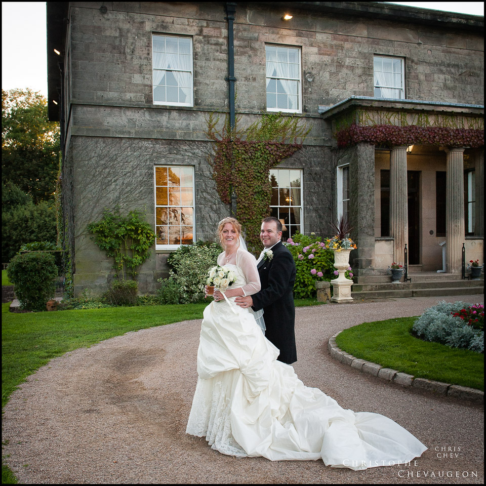 Bride and Groom at Doxford Hall in Northumberland