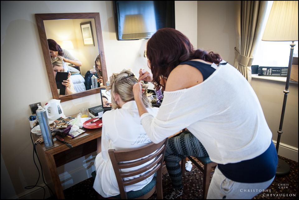 Bridal Preparations Alnwick Castle Wedding Photographer