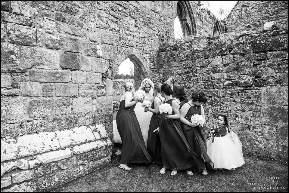 Hulne Abbey Alnwick Castle Wedding Photography