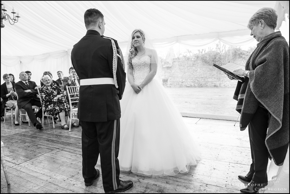 Wedding Ceremony at Hulne Abbey Alnwick