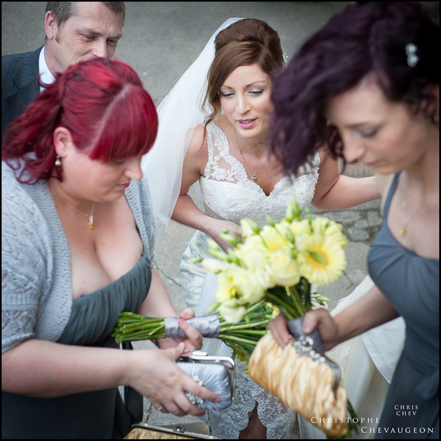 Bride and Bridesmaids at Lumley Castle