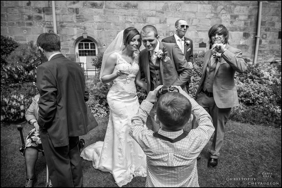 Wedding Party at the inner garden of Lumley Castle