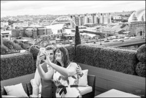 Vermont Hotel Newcastle Sky Lounge Documentary Wedding Photography by ChrisChevPhotographer