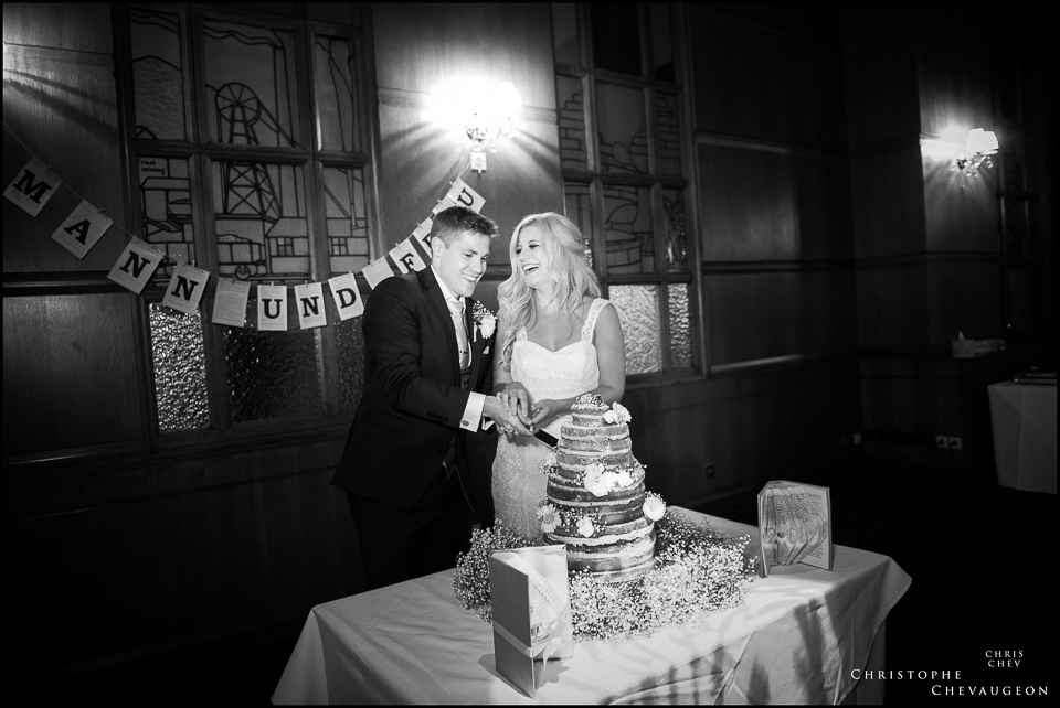 Ballroom Vermont Hotel Newcastle: cake cutting . Photography by ChrisChevPhotographer