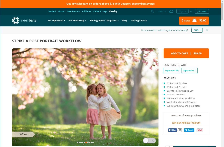 sleeklens-home-page