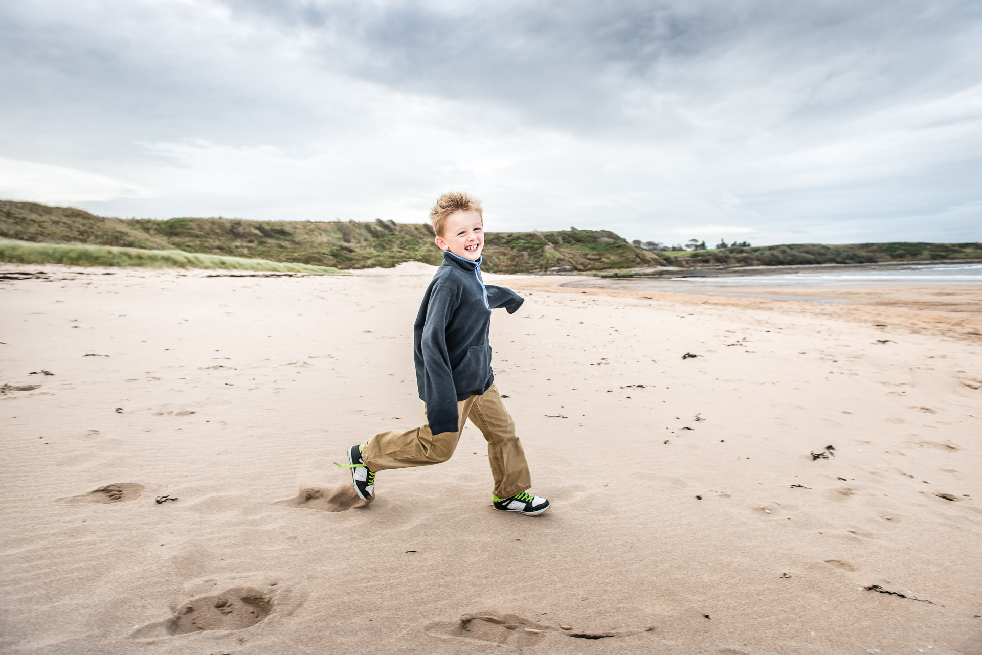 portrait at Alnmouth Beach